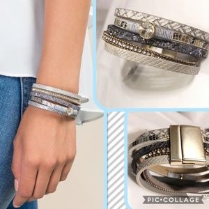 💎NWT Francesca's Magnetic Layered Wrap Bracelet